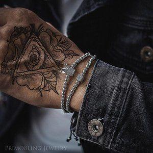 Silver Crown Metal Bead Bracelet